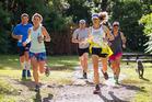 Tarawera Ultramarathon's annual fun run, 'Dogaine' raising funds for a cause.  Photo/Supplied