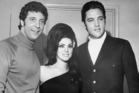 Tom Jones poses with Priscilla and Elvis Presley in 1968. Photo / Getty Images