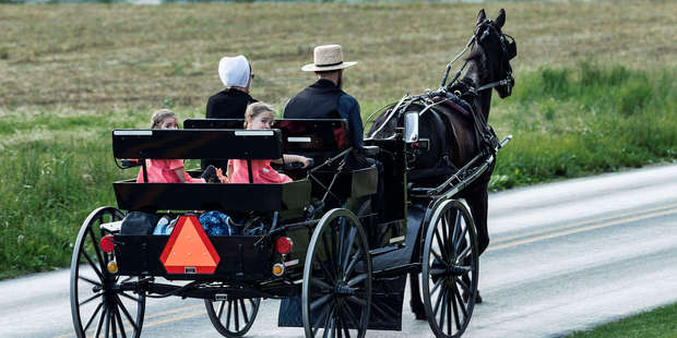 Amish family in Lancaster County, Pennsylvania, United States. Photo / Getty Images