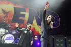 Tony Iommi (L) and Ozzy Osbourne of Black Sabbath are calling it a day. Photo / Getty