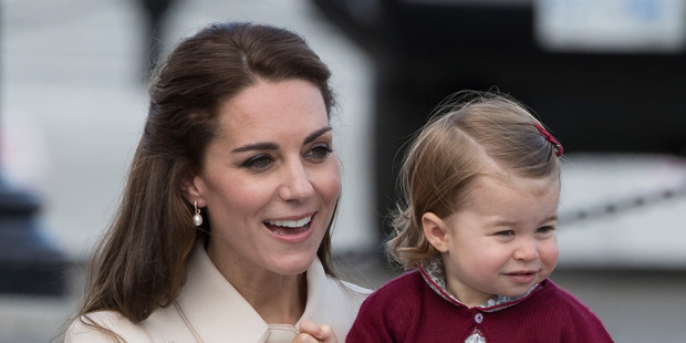 Kate Middleton with her daughter Charlotte during their Royal Tour of Canada last year. Photo / Getty