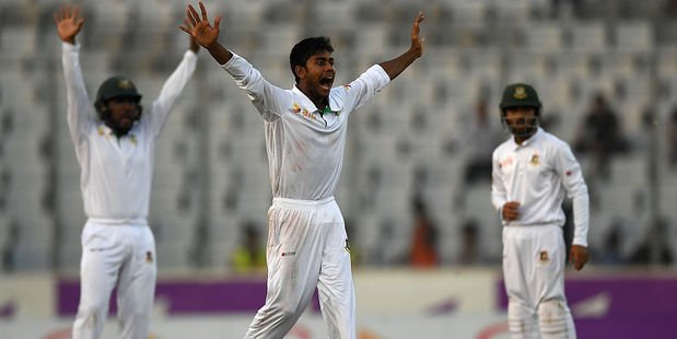 Bangladesh players appealing for a wicket. Photo / Getty