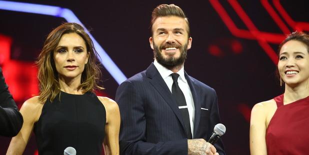 British fashion designer Victoria Beckham, British former footballer David Beckham attend a gala event. Photo / Getty