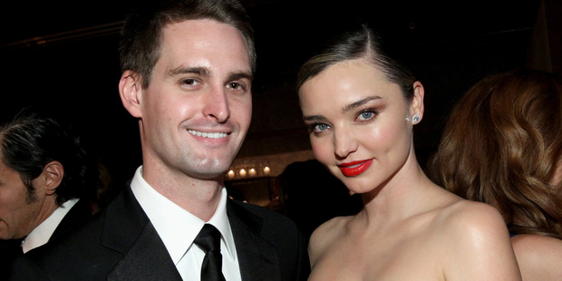 A recent interview has revealed Kerr is taking a very different approach to her relationship with Snapchat billionaire Evan Spiegel. Photo / Getty