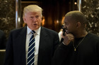 Maybe Kanye West and Donald Trump are not as friendly as they used to be. Photo / Getty
