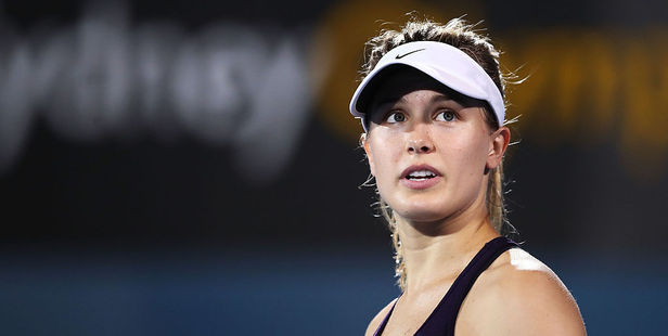 Eugenie Bouchard of Canada made a bet she'll regret after the Patriots won the Super Bowl. Photo / Getty