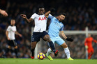 Victor Wanyama of Tottenham (L) and Sergio Aguero of Manchester City (R) can expect their clubs to be in a tight battle to make the Premier League's top four by season's end. Photo / Getty Images.