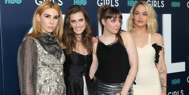 Actors Zosia Mamet, Allison Williams, Lena Dunham and Jemima Kirke attend The New York Premiere Of the final season of Girls. Photo / Getty