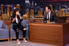 Singer Alessia Cara and host Jimmy Fallon play Wheel of Musical Impressions. Photo / Getty