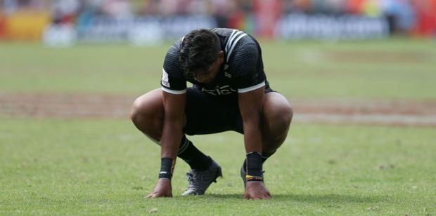 Dylan Collier of New Zealand looks dejected after losing to England. Photo / Getty Images