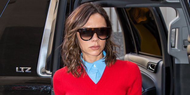 Victoria Beckham is seen out and about in New York City yesterday. Photo / Getty