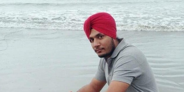 Franchesca Kororia Borell, 22, denies stabbing 26-year old Hardeep Singh (pictured) at a Christchurch property on Christmas Day last year.