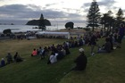 The Waitangi Day dawn ceremony gets underway in Mount Maunganui. Photo/George Novak