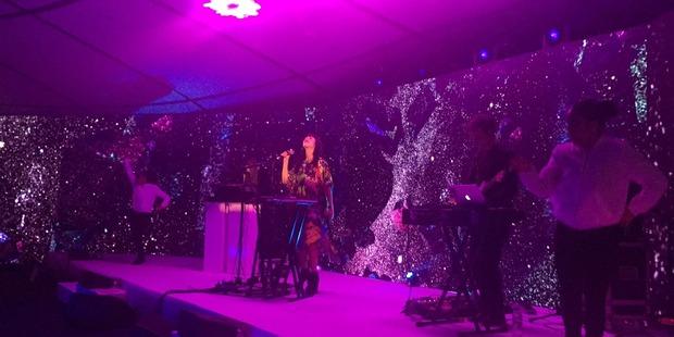 Kimbra performs at the ceremony. Photo / Grant Bradley