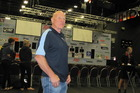 World shearing and woolhandling championships committee chairman Tom Wilson in ILT Stadium Southland today shortly before the start of the 40th anniversary event.