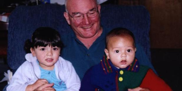 Peter Poulson and his grandchildren Malee, left, and Bas were murdered by the children's father. Photo / News Limited