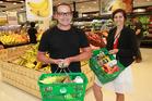 Celebrity chef Michael Van de Elzen with reporter Sarah Harris after the $50 dollar Countdown food challenge. PHOTO/Doug Sherring