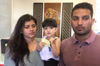 Asha Rani (left), Vikram Salaria and their daughter Khwahish. Photo / Simon Collins