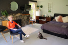 Whanganui local Deborah Foster in the private room she lists on Airbnb. PHOTO/ STUART MUNRO