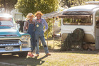 MEET: Roger and Kristina Belfield from Tirau with their '59 Chevrolet Apache and '77 Lilliput Gazelle caravan at the annual Lilliput Caravan Club meet. PHOTO/STEPHEN PARKER