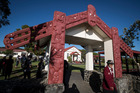 Yesterday's political forum could have been a showcase event for the marae. Photo / Jason Oxenham