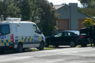 Police make an arrest in Whanganui's Cornfoot St. PHOTO/ CHRISTOPHER CAPE