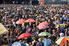 Second day of the One Love Festival at crowded Tauranga. Photo / George Novak