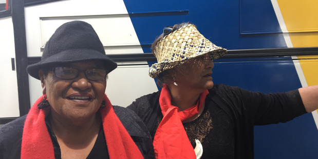 Hariata Kereopa and Ellen Tamati during Te Arawa's bus trip to Whitianga. PHOTO/SUPPLIED