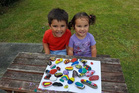 READY TO ROCK: Salem and Lily Davis are loving the Taihape Rocks craze.