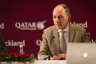 Qatar Airways chief executive Akbar Al Baker at a press conference in Auckland.  Photo / Nick Reed