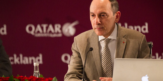 Loading Qatar Airways chief executive Akbar Al Baker at a press conference in Auckland.  Photo / Nick Reed