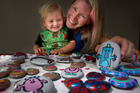 Sonia Foote and son Theo, 17 months, love playing with Roto-rocks. PHOTO/BEN FRASER