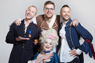 The cast of Jono and Ben for 2017: Jono Pryor (left), Guy Williams, Ben Boyce and Laura Daniel (centre). Photo/Supplied
