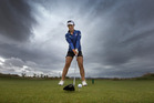 Lydia Ko during her visit to Windross Farm Golf Club, Ardmore, South Auckland, this morning. Photo / Brett Phibbs
