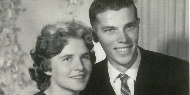 Newlyweds Valerie Bignell and Elywn Saville who went missing with the Dragonfly plane in 1962. Photo / Lost Without A Trace, by Richard Waugh