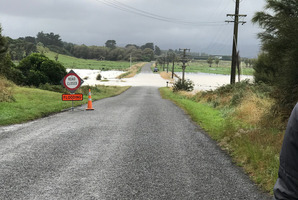 Muhunoa West Rd was closed due to the extent of the flooding. Photo / Cyndi Friend