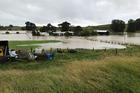 Last week's flooding in Levin ripped through the property of Ohau woman Cyndi Friend and husband, Willie. Photo / Cyndi Friend