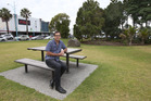 City councillor Rick Curach on the site of Mount Maunganui's Coronation Park where a new iconic visitor information centre could be built.  Photo/John Borren