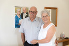 Sally and Ross Hancock recently wed after they met while she was volunteering at a hospice. Photo / Michael Craig