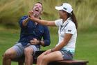 New Zealand golfer and world #1, Lydia Ko and NZME's Tony Veitch. Photo / Photosport