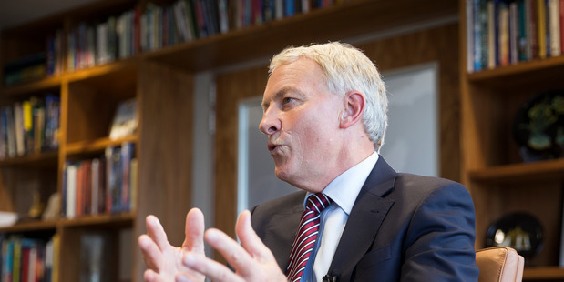 Auckland Major Phil Goff talks about his vision for Auckland in the coming year. Photo / Greg Bowker