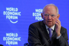 German finance minister Wolfgang Schauble said the eurozone nations cannot, by treaty, give Greece debt relief. Photo / AP