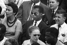 James Baldwin, center, from Raoul Peck's Oscar-nominated documentary, I am not your Negro.  Photo/ Magnolia Pictures