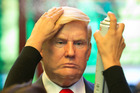 A wax replica of President Donald Trump. Evidence suggested fake news sites were aiding Trump's election campaign. Photo / AP