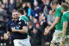 Scotland's Gordon Reid celebrates winning the Six Nations rugby match against Ireland at BT Murrayfield Stadium, Edinburgh, Scotland. Photo / AP.