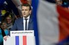 Presidential candidate Emmanuel Macron speaks during a meeting in Lyon. Photo / AP
