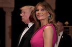 President Donald Trump and first lady Melania Trump arrive for the 60th annual Red Cross Gala at Trump's Mar-a-Lago resort. Photo / AP