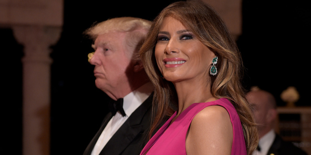The deal was reached a day after Melania Trump sued the Mail Online in New York Supreme Court over a similar claims that she once worked as a high-priced call girl. Photo / AP