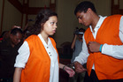 Heather Mack and her boyfriend, Tommy Schaefer, during their trial in Bali. Photo / AP