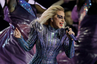 Singer Lady Gaga performs during the halftime show of the NFL Super Bowl 51. Photo / AP